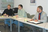 Roland Bracht, Jens Thiemann und Oliver Stoll - Vorstand der Alumni