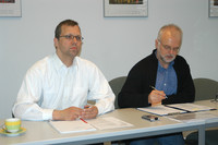 Stephan Albers und Hans Decker - Vorstand der Alumni