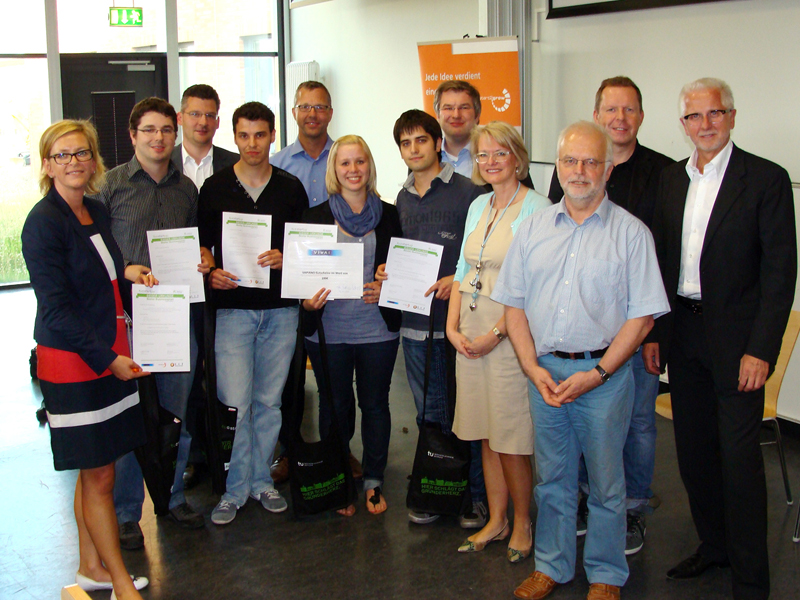 Gruppenbild Abschlussveranstaltung Unternehmensgründung